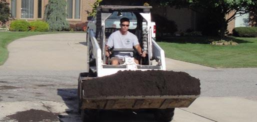 Lawn care garden grass and yard maintenance