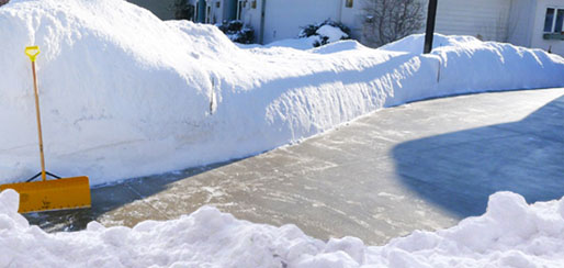 Residential snow plowing driveway snow removal
